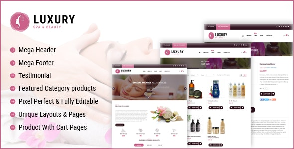 Luxury Spa Beauty OpenCart Theme - Miscellaneous OpenCart