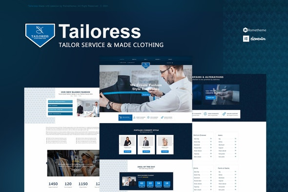 Tailoress - Tailor Service & Made Elementor Template Kit - Business & Services Elementor