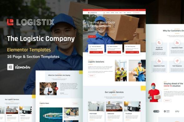Logistix - Transportation Courier & Logistic Company Elementor Template Kit - Automotive & Transportation Elementor