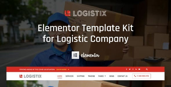 Logistix - Transportation Courier & Logistic Company Elementor Template Kit