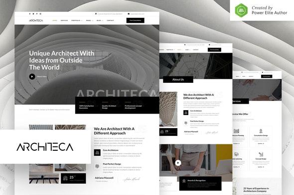 Architeca – Architecture Agency & Interior Design Elementor Template Kit - Real Estate & Construction Elementor