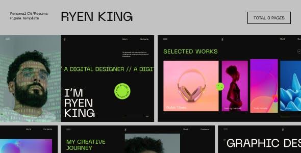 Ryen King - Personal CV/Resume Figma Template