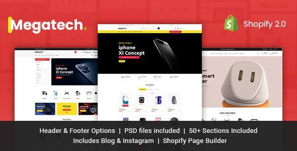 Megatech Multipurpose Shopify Theme - Shopping Shopify
