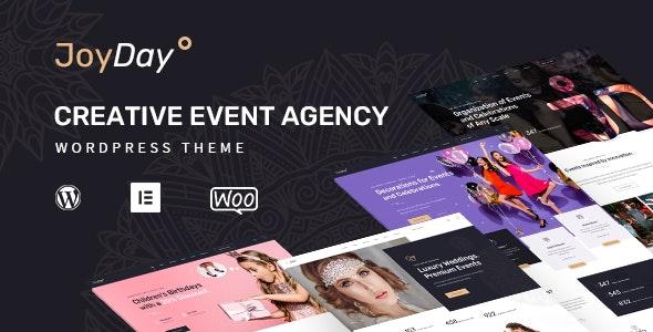 JoyDay - Creative Event Agency WordPress Theme - Events Entertainment
