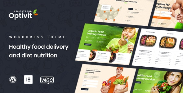 Optivit - Healthy Food Delivery WordPress Theme - Food Retail