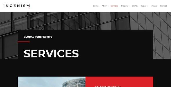 INGENISM - Architectural Design Agency Elementor Template Kit