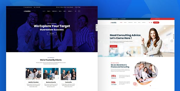 Reobiz - Consulting Business WordPress Theme