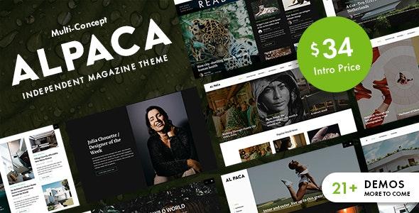 Alpaca - Independent Magazine WordPress Theme - News / Editorial Blog / Magazine