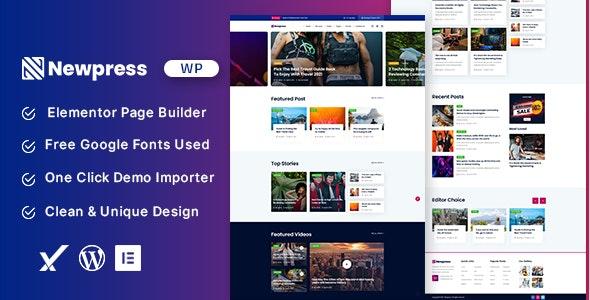 Newpress v1.0 – Blog Magazine WordPress Theme