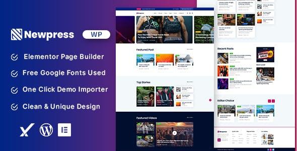 Newpress - Blog Magazine WordPress Theme