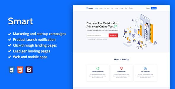 Smart - Marketing HTML Landing Page Template