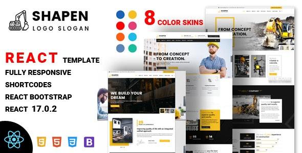 Shapen - Construction React Template - Business Corporate