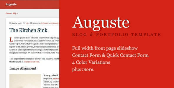 Auguste HTML Premium Site Template by gcfranco | ThemeForest