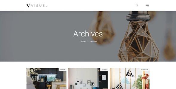 Visus - Interior Design & Architecture Elementor Template Kit