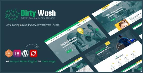 DirtyWash – Laundry Service WordPress Theme - Business Corporate