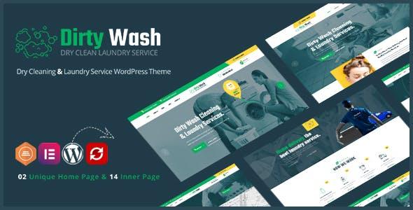 DirtyWash – Laundry Service WordPress Theme
