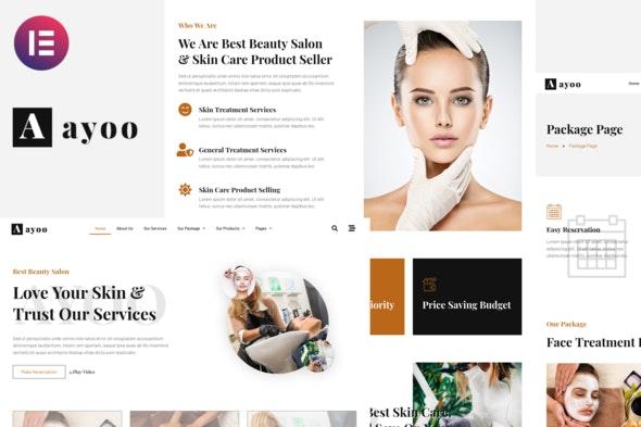 Ayoo - Beauty Salon Services Elementor Template Kits - Fashion & Beauty Elementor