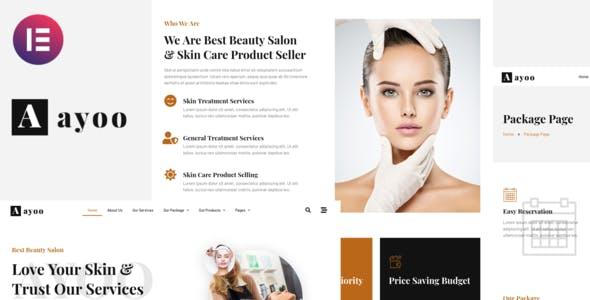 Ayoo - Beauty Salon Services Elementor Template Kits