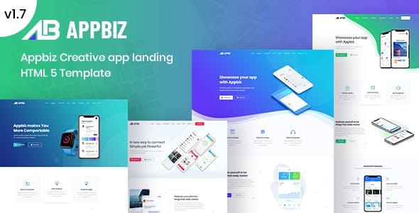 Appbiz– Apps Landing HTML Template.