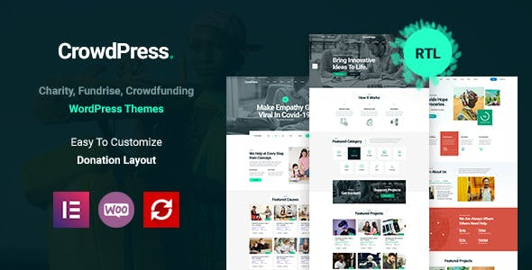 CrowdPress - Crowdfunding Responsive WordPress Theme