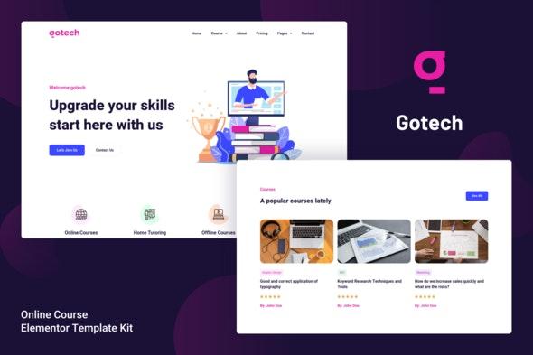 Gotech - Online Course Elementor Template Kit - Education Elementor