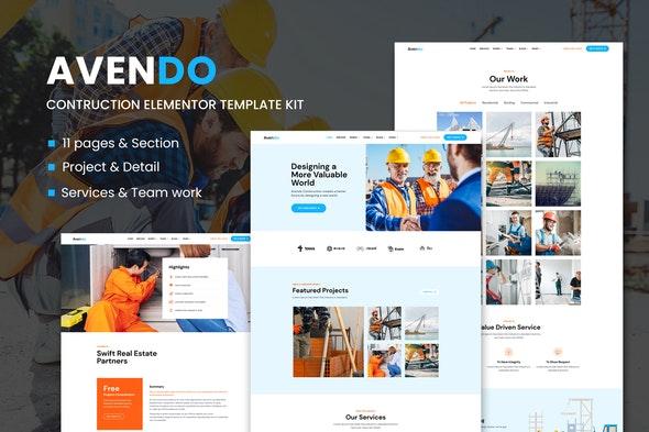 Avendo - Construction Elementor Template Kit - Real Estate & Construction Elementor