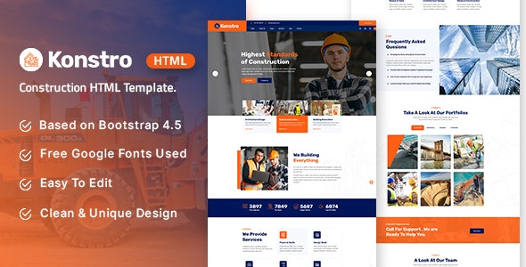 Konstro - Construction HTML Template - Business Corporate