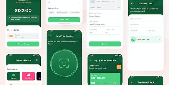 Wpay - E-Wallet Mobile App UI Kit