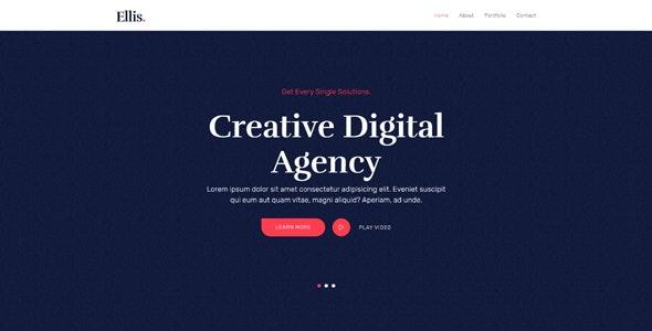 Ellis - One Page Creative Portfolio HTML5 Template - Portfolio Creative