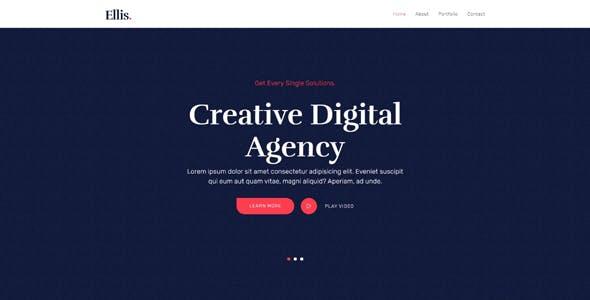 Ellis - One Page Creative Portfolio HTML5 Template