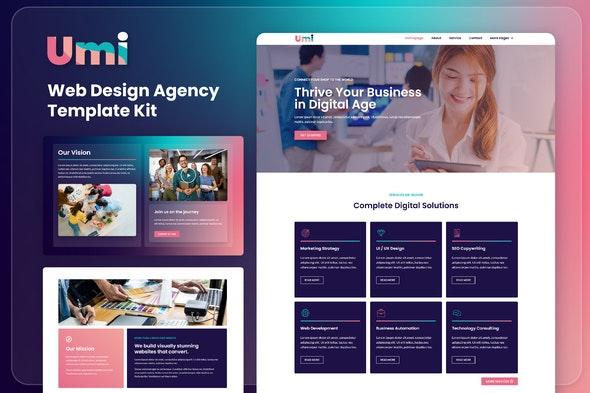 Umi - Web Design Agency Elementor Template Kit - Creative & Design Elementor