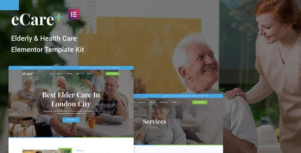 eCare - Elderly & Health Care Elementor Template Kit