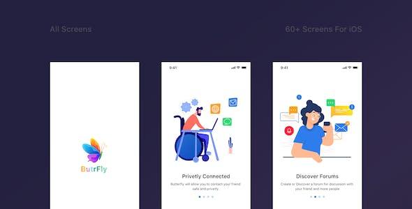 ButrFly - Social UI Kit for Sketch