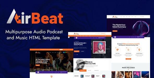 AirBeat | Multipurpose Audio Podcast & Music HTML Template - Entertainment Site Templates
