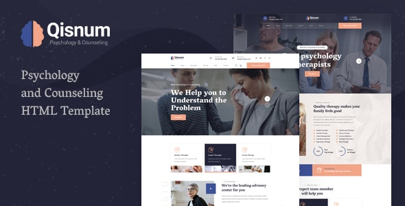 Qisnum - Psychology & Counseling HTML Template - Health & Beauty Retail