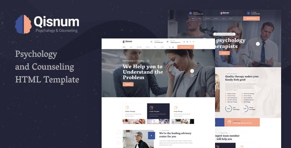 Qisnum - Psychology & Counseling HTML Template