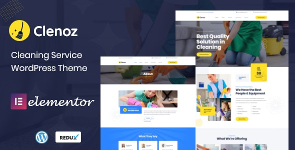 Clenoz - Cleaning Service WordPress Theme - Business Corporate