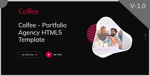 Colfee   Portfolio Agency One Page HTML5 Template - Creative Site Templates