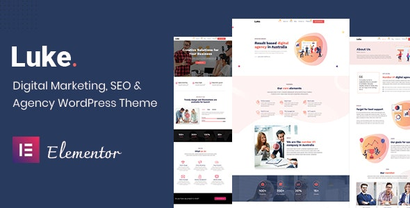 Luke - Digital Marketing and SEO WordPress Theme - Marketing Corporate