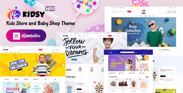 Kidsy v1.0.0 – Kids Store and Baby Shop WooCommerce Theme