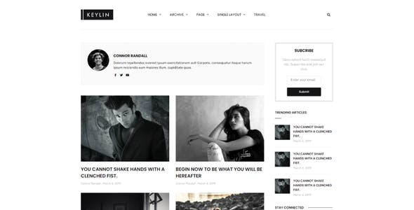 Keylin - Blog & Magazine Elementor Template Kit