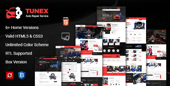 TUNEX || Auto Mechanic & Car Repair HTML Template
