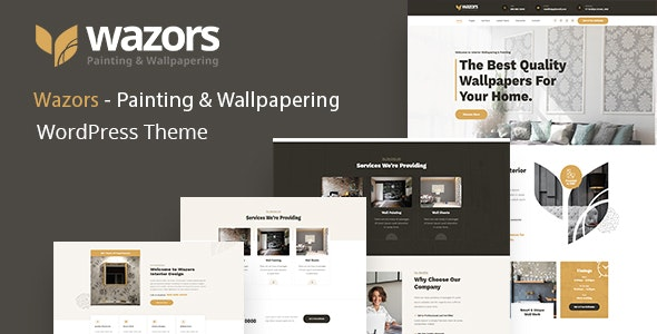 Wazors - Painting & Wallpapering WordPress Theme - Business Corporate