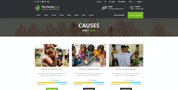 Charity - Plus HTML Template
