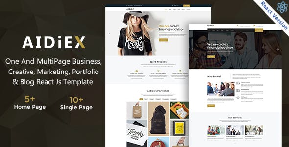 Aidiex – Business And Corporate React Next JS Template
