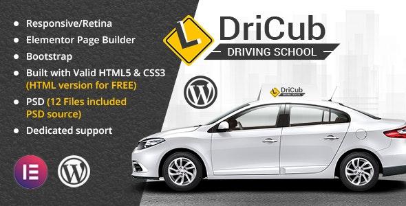 DriCub - Driving School WordPress Theme - Business Corporate