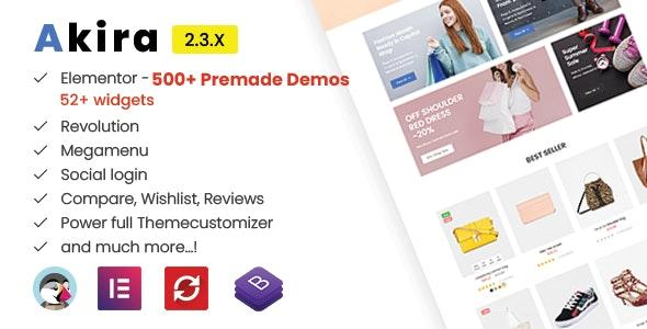 Akira Elementor - Multipurpose Prestashop 1.7 Theme - Fashion PrestaShop