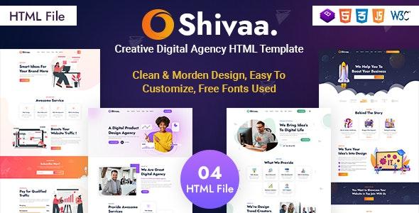 Shivaa - Creative Agency Bootstrap Template - Creative Site Templates