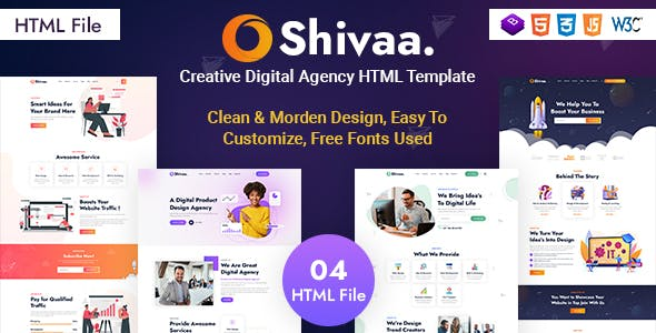 Shivaa - Creative Agency Bootstrap Template