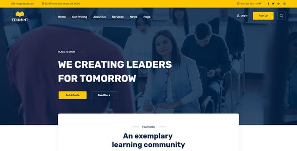 Edumint – LMS, Online Courses, Education HTML Template